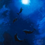 Dolphins Moondance - 1992 Acrylics on Canvas, 213 cm x 274 cm