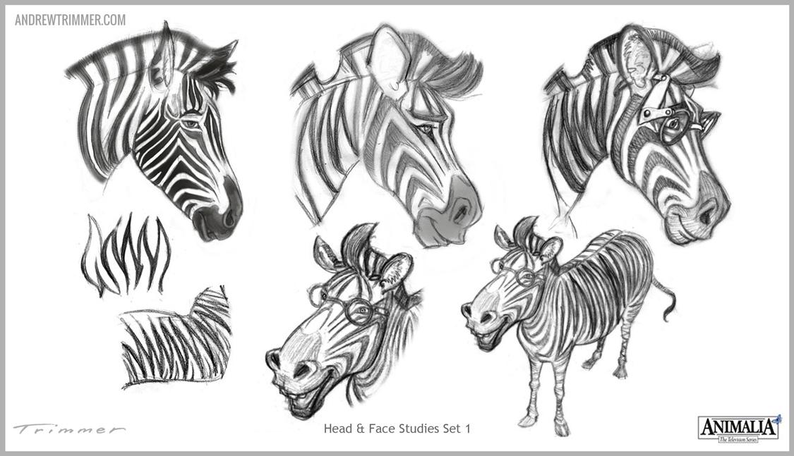 Zebra Character Design : Atrimmer andrew trimmer