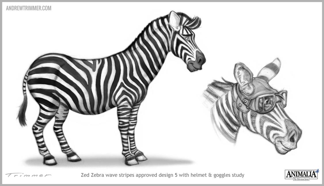 Zebra Character Design : Case studies andrew trimmer