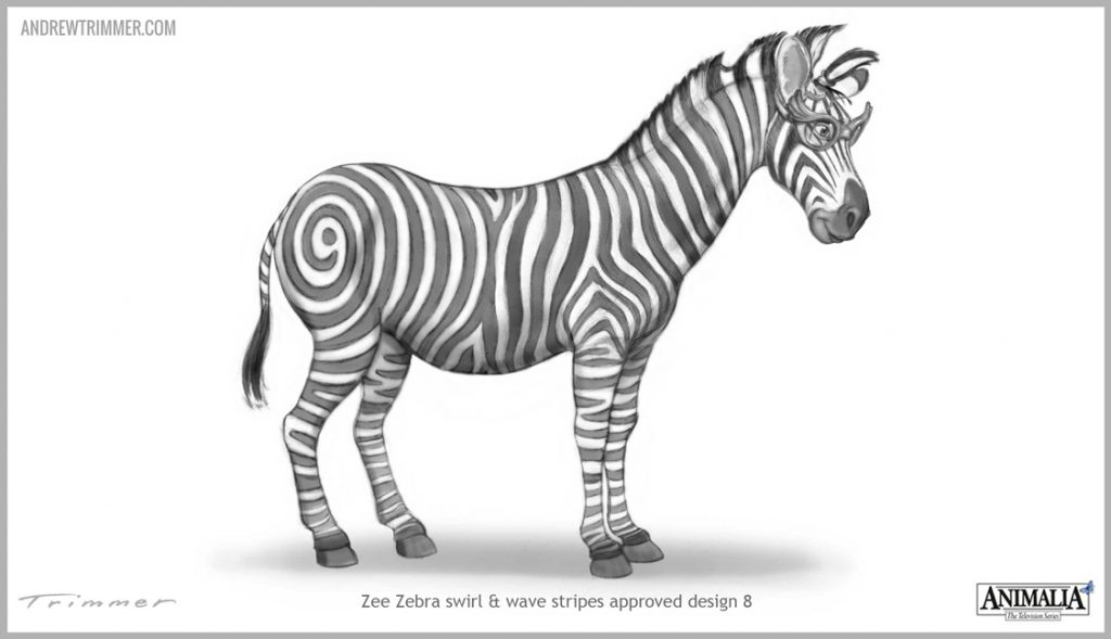Zebra Character Design : Anatomy of design andrew trimmer