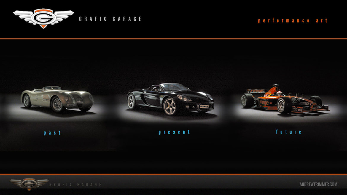 Grafix Garage Web Layout - Past Present Future
